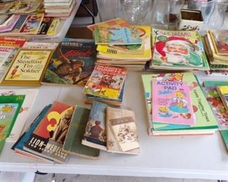 lots and lots of vintage Children's Golden Books and more - in the Patio Room
