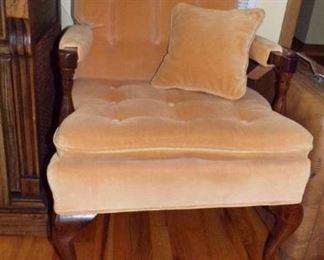 Velour Chair w/cushion