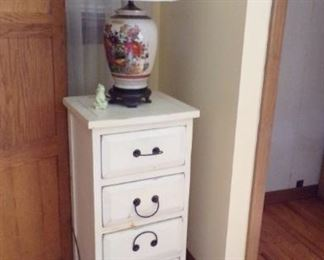 small 4 drawer Chest, Lamp