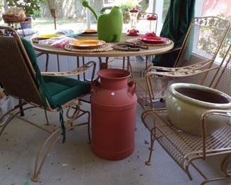 Milk Can (no top), large Planter pot, misc. - in Patio room