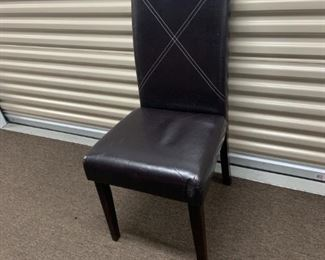 Dining chair, leather