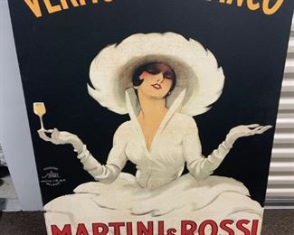 Italian advertising posters on canvas