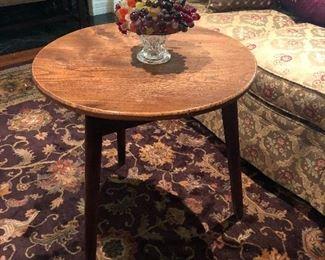 Antique English Oak cricket table