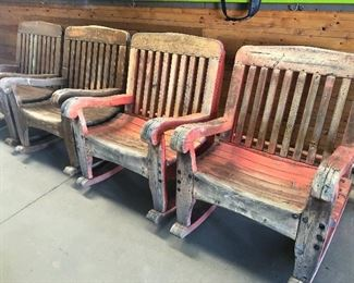Rustic western style wood rocking chairs