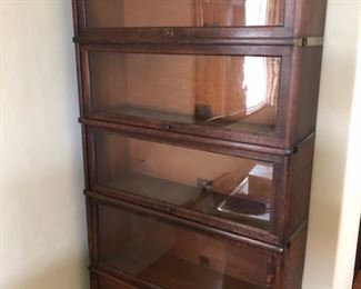 1920s GLOBE bookcase excellent condition.  $600.00