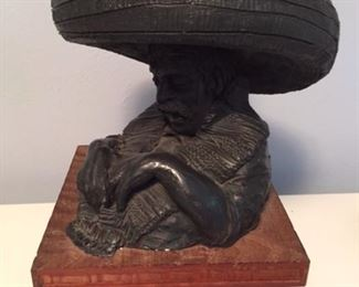 CLAY SCULPTURE BY WILLIAM H CONDIT1961 $600