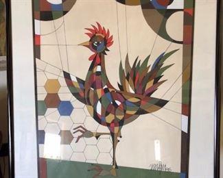 THE CHICKEN BY JEAN NERFIN-Santa Barbara artist