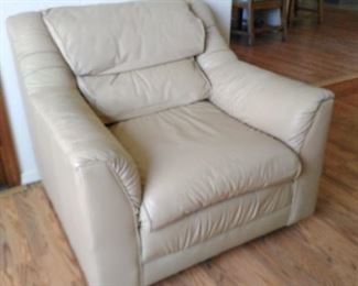 Cream leather chair, very good condition