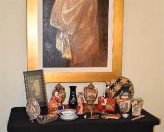 Asian Rice Bowl, Asian Urns, Asian Ginger Jar, Fan, Art, Vase, Figurines, More