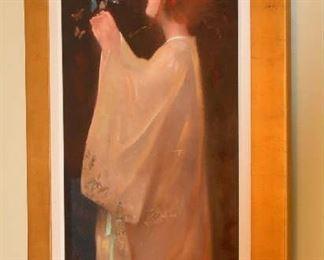 Yalixmas Original Oil of Young Asian Woman