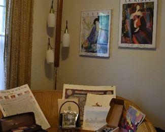 Art, Posters, 1928 Calendars, MCM Pole Lamps, Love Seat