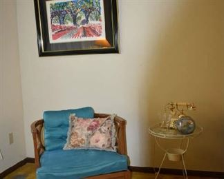 MCM Chair and Framed Art