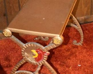 Cast Iron Rooster or Cardinal Bench or Table