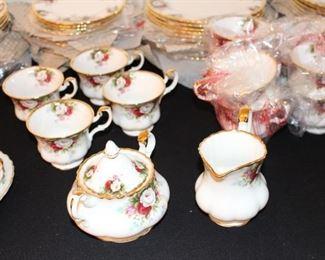 Celebrations Royal Albert Service for 12 Porcelain Set