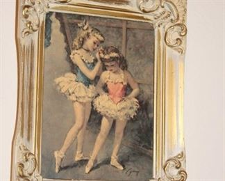 Cydney Set of 3 Ballerina Prints, framed