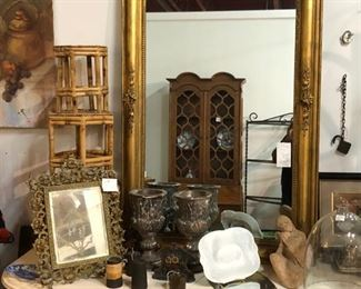 Antique Mirror, Antique sideboard