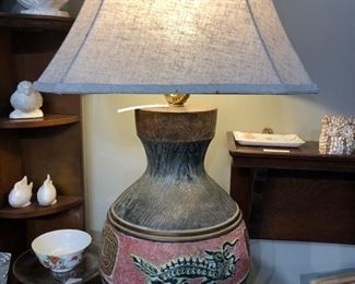 vintage dragon lamp