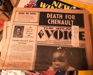 vintage the voice news paper