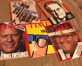 1970's Vintage Times Magazines, Nixon Watergate