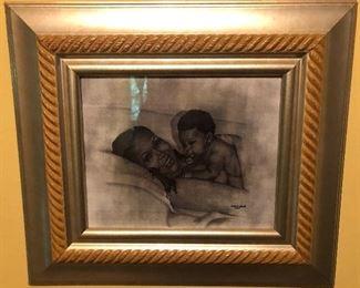 Vintage Framed African American Art Prints