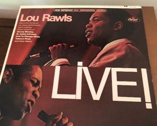Vintage Vinyl Records Lour Rawls.  There are a few hundred records