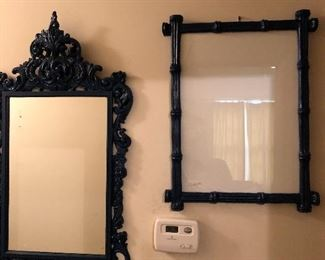 painted blue mirror and memo board