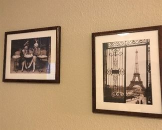 prints and framed art all over