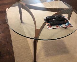 mid century- glass coffee table