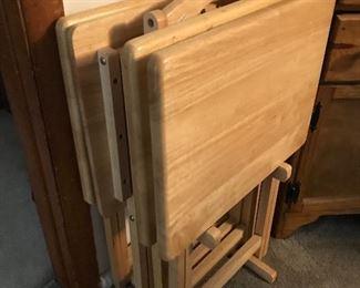 Wood Folding Trays