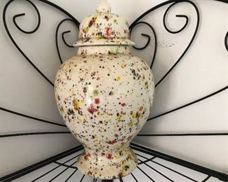 Vintage Spatterware Urn