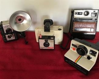 Vintage Cameras - Poloroid, Argus, Kodak