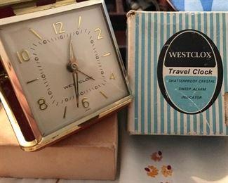 Vintage Westclox  - Tourino Travel Clock