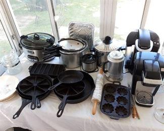 Crock pots, Keurig coffee makers and pressure cookers