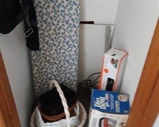 Very nice baskets, Dirt Devil, ironing board