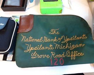 National Bank of Ypsilanti money pouch