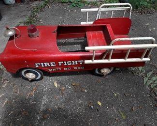 Fire department pedal car