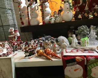 Christmas houses, snowmen, ornaments & gingerbread houses
