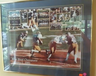1981 Rose Bowl, signed by Bo Schembechler