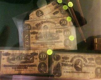 Authentic Civil War Bills