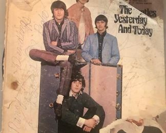 """Beatles Butcher """"peel Cover"""" partially peeled"""