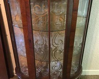 Antique British Curio Cabinet