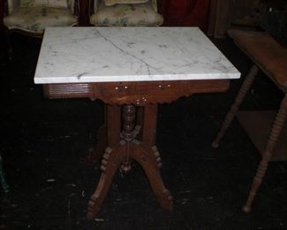 wal. marble top table