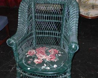 wicker arm chair c.1890