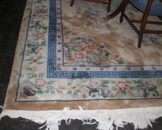 9'x12' sculptured Chinese rug