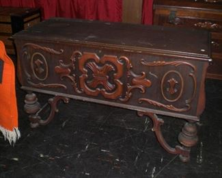 American Tudor blanket chest