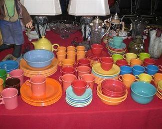 lots of Fiesta ware
