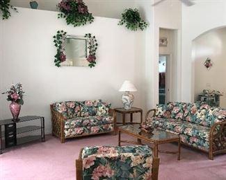 Lane Rattan Living Room Set