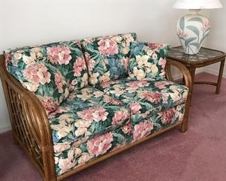 Matching love seat  End tables 25.5 x 24 x 20