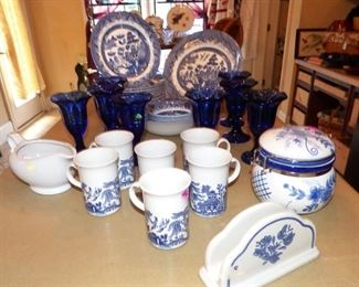 "Churchill ""Blue Willow"" china, etc."