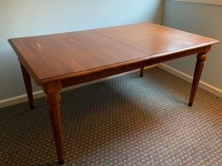 Ethan Allen dining table - no leaf, needs refinishing on top